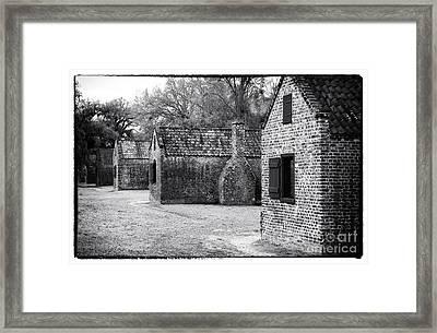 Plantation Quarters Framed Print