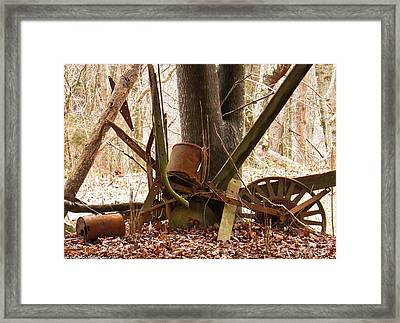 Framed Print featuring the photograph Planted Planter by Nick Kirby