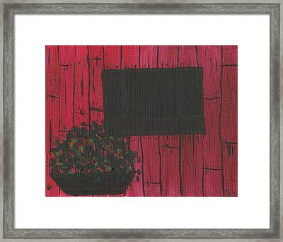 Planter Framed Print by Keith Nichols