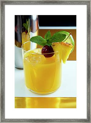 Planter's Punch Cocktail Framed Print by Nico Tondini