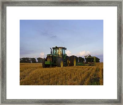 Planting Deere Framed Print
