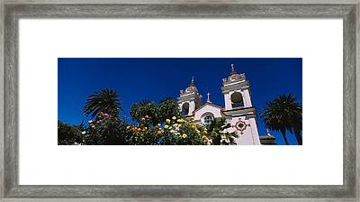 Plants In Front Of A Cathedral Framed Print by Panoramic Images