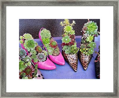 Plants In Pumps Framed Print