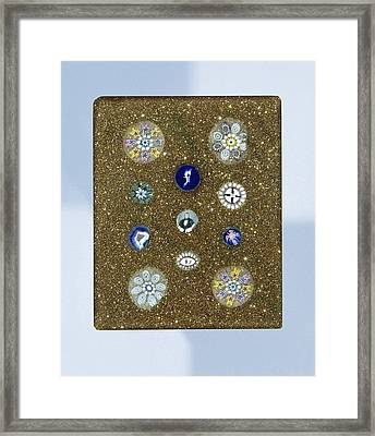 Plaque Of Aventurine Glass, With Eleven Rosettes Framed Print by Quint Lox