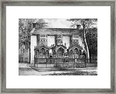 Plas Newyyd, Near Llangollen, Wales Framed Print by English School