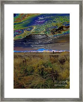 Plasma Sky Framed Print