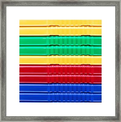 Plastic Background Framed Print
