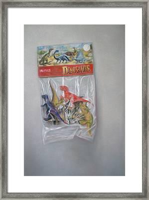 Plastic Dinosaurs  Framed Print