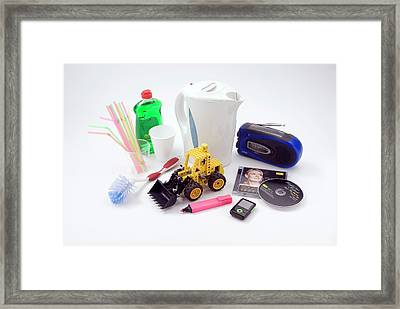 Plastic Household Objects Framed Print by Trevor Clifford Photography