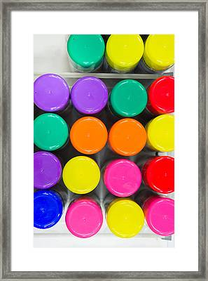 Plastic Tops Framed Print by Tom Gowanlock