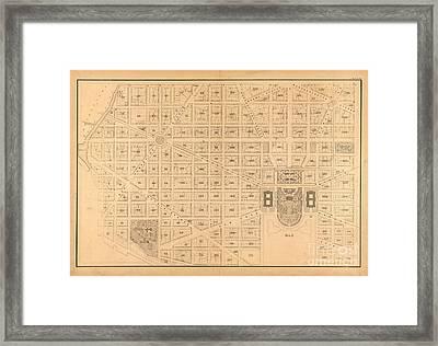 Plat Map White House Framed Print