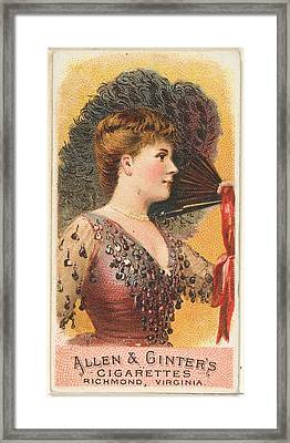 Plate 1, From The Fans Of The Period Framed Print by Issued by Allen & Ginter