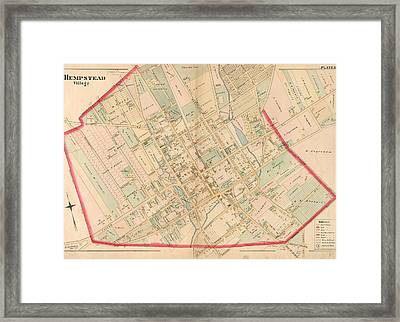 Plate 10 Bounded By Intersection Street, Franklin Street Framed Print