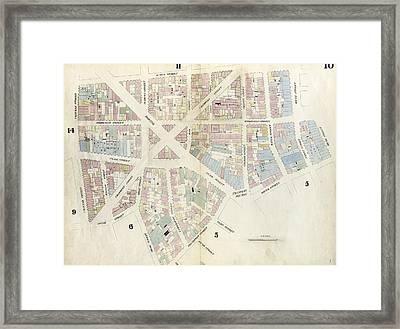 Plate 10 Map Bounded By Chatham Street, James Street, South Framed Print