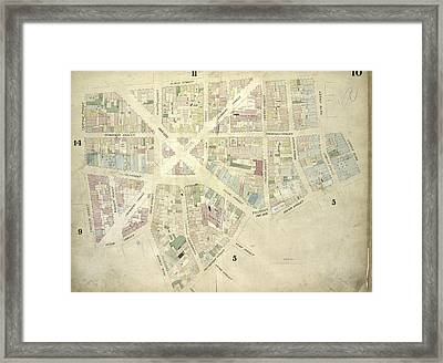 Plate 10 Map Bounded By James Street, South Street, Dover Framed Print