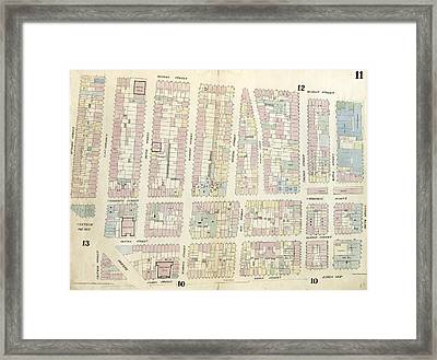 Plate 11 Map Bounded By Chatham Square, Division Street Framed Print