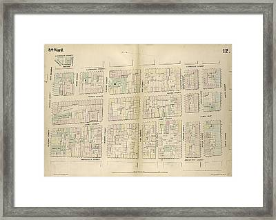 Plate 12 Map Bounded By Chatham Street, East Broadway Framed Print