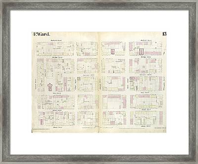 Plate 13 Map Bounded By Concord Street, Duffield Street Framed Print by Litz Collection