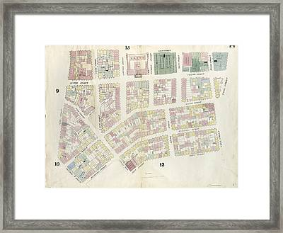 Plate 14 Map Bounded By Canal Street, Mott Street Framed Print