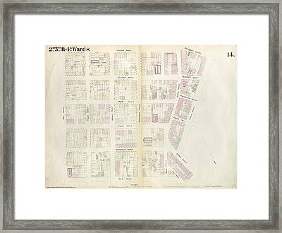 Plate 14 Map Bounded By Market, James Street, York Street Framed Print