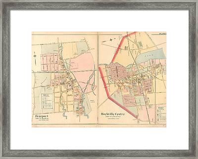 Plate 15 Freeport, Town Of Hempstead - Rockville Centre Framed Print