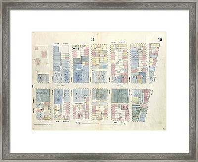 Plate 15 Map Bounded By Canal Street, Elm Street Framed Print by Litz Collection