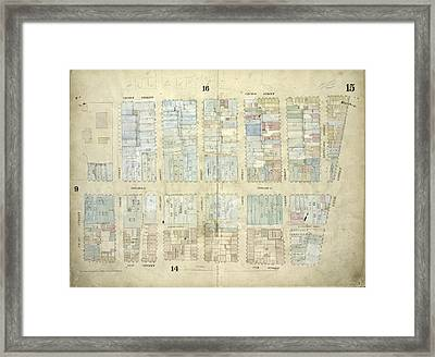 Plate 15 Map Bounded By Church Street, Canal Street, Elm Framed Print