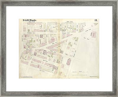 Plate 15 Map Bounded By Pineapple Street, Fulton Avenue Framed Print