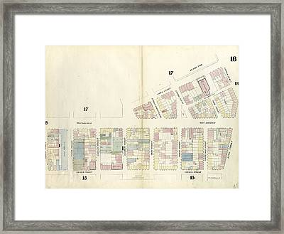 Plate 16 Map Bounded By Laight Street, Canal Street Framed Print by Litz Collection