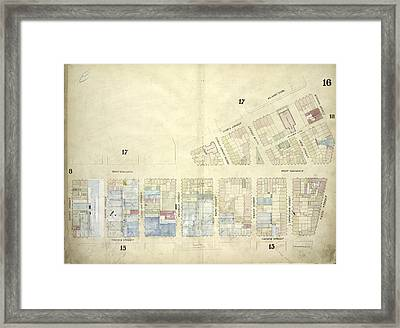 Plate 16 Map Bounded By West Broadway, Varick Street Framed Print by Litz Collection
