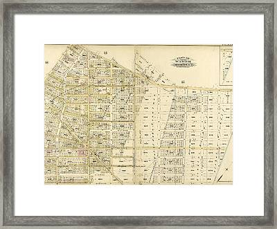 Plate 17 Bounded By Flushing Avenue, Knickerbocker Avenue Framed Print by Litz Collection