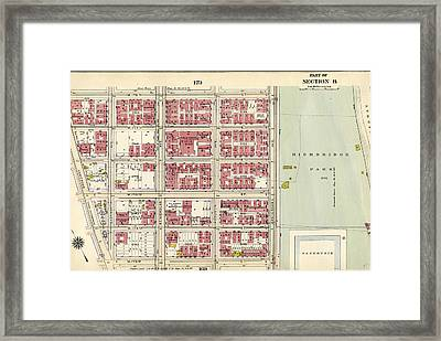 Plate 171 Bounded By W. 178th Street, Amsterdam Avenue Framed Print by Litz Collection