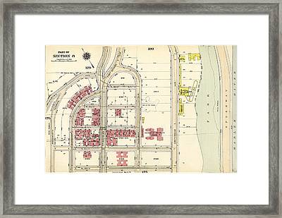Plate 177 Bounded By Fairview Avenue, Isabella Heimath Home Framed Print by Litz Collection