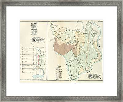 Plate 18 Vol. 4 Of Maps, Page 34 Bounded By 138th Street Framed Print