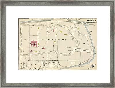 Plate 186 Bounded By Bolton Road Harlem River Framed Print by Litz Collection