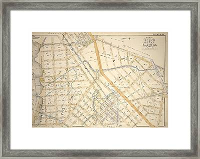 Plate 19 Bounded By Bungay St., Southern Blvd., Prospect Framed Print by Litz Collection