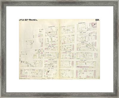 Plate 19 Map Bounded By Concord Street, Navy Street Framed Print