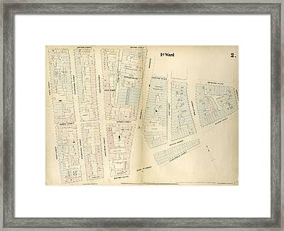 Plate 2 Map Bounded By Rector Street, Broadway, Exchange Framed Print by Litz Collection