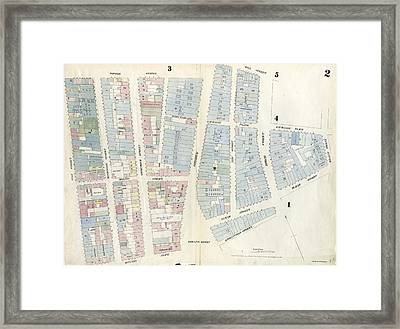 Plate 2 Map Bounded By Rector Street, Broadway, Wall Framed Print by Litz Collection