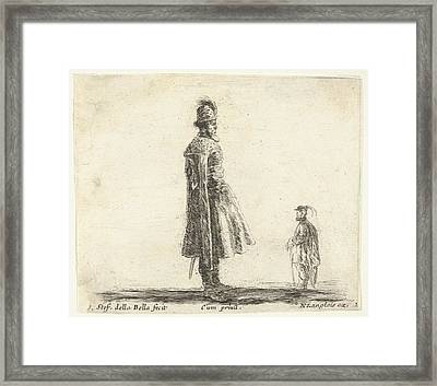 Plate 20 An Old Polish Nobleman Wearing Framed Print by Stefano della Bella