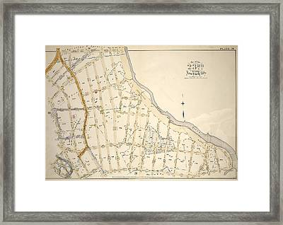 Plate 20 Bounded By Dongan Ave., Edgewater Rd., Strain Pl Framed Print by Litz Collection