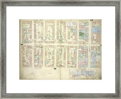 Plate 21 Map Bounded By W.houston Street, Crosby Street Framed Print