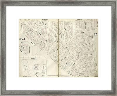 Plate 25 Map Bounded By Chambers Street, Center Street Framed Print