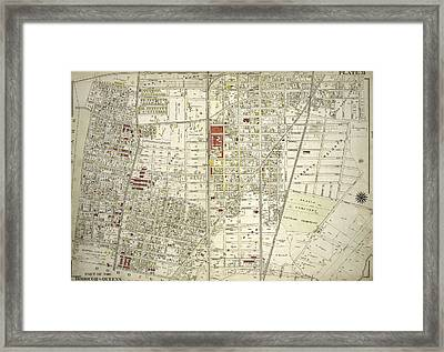 Plate 31 Bounded By New York And Rockaway Beach, Ocean Framed Print by Litz Collection