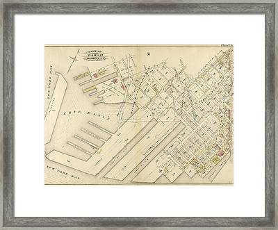 Plate 31 Bounded By Richards Street, Partition Street Framed Print