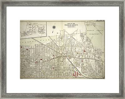 Plate 32 Bounded By Forest Park Magnolia Avenue, Union Framed Print by Litz Collection