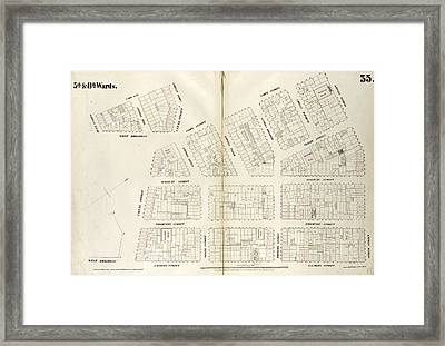 Plate 35 Map Bounded By Spring Street, Laurens Street Framed Print by Litz Collection