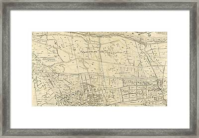 Plate 38 Bounded By Harlem River, Highbridge Road Framed Print by Litz Collection