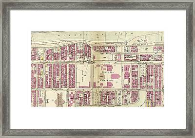 Plate 38 Bounded By Hudson River Riverside Park Framed Print by Litz Collection