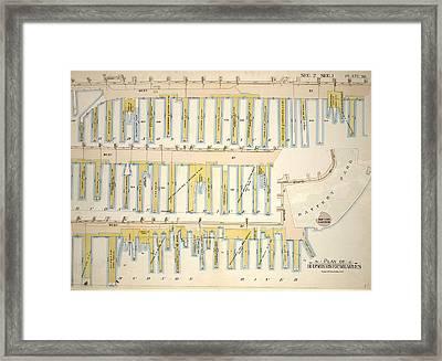 Plate 39, Sec. 2 & Sec. 1 Plan Of Hudson River Wharves Framed Print